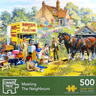 Meeting the Neighbours 500 Piece Jigsaw Puzzle image number 2