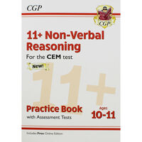 CGP 11+ Non-Verbal Reasoning: Practice Book with Assessment Tests