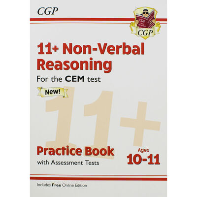 CGP 11+ Non-Verbal Reasoning: Practice Book with Assessment Tests image number 1