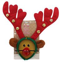 Light Up LED Reindeer Nose Headband