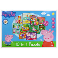 Peppa Pig 10-in-1 Piece Jigsaw Puzzle
