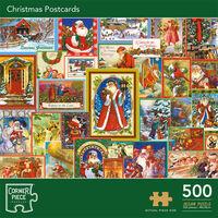 Christmas Postcards 500 Piece Jigsaw Puzzle
