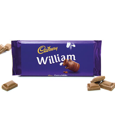Cadbury Dairy Milk Chocolate Bar 110g - William image number 2