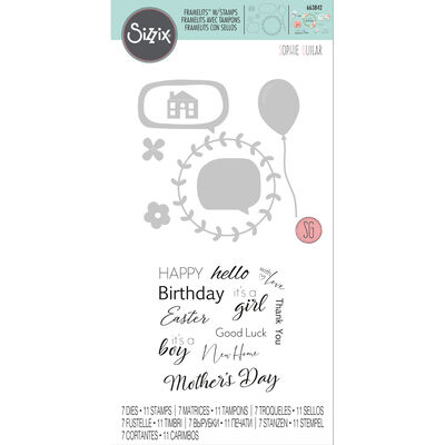 Celebration Phrases Cutting Die and Stamp Set image number 1