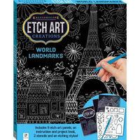 Etch Art Creations: World Landmarks