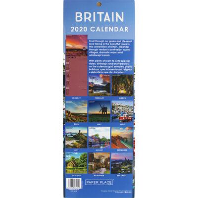 Britain 2020 Slim Calendar and Diary Set image number 2