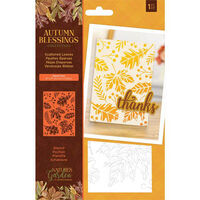 Nature's Garden Autumn Blessings Stencil: Scattered Leaves