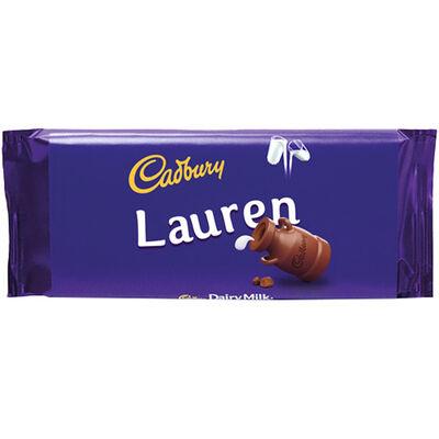 Cadbury Dairy Milk Chocolate Bar 110g - Lauren image number 1