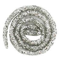 Silver Glitter Craft Trim 46cm