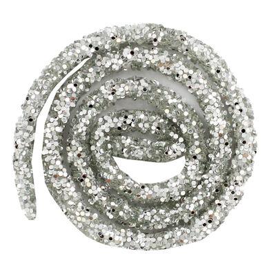 Silver Glitter Craft Trim 46cm image number 2