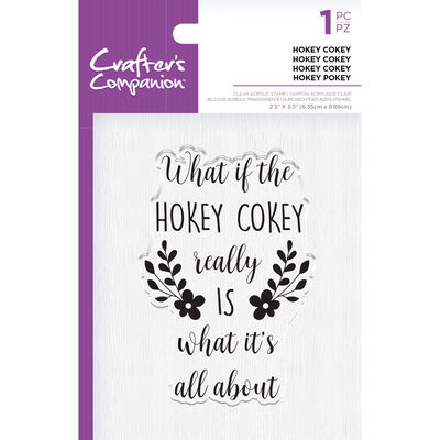 Crafters Companion Clear Acrylic Stamp - Hokey Cokey image number 1