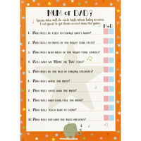 Baby Shower Mum or Dad Card Game - 12 pack