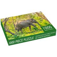Sri Lankan Elephant 1000 Piece Jigsaw Puzzle