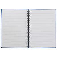 A5 Wiro Plain Blue Lined Notebook