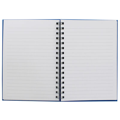 A5 Wiro Plain Blue Lined Notebook image number 2