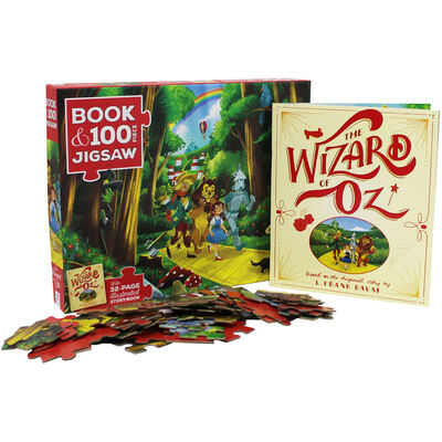 The Wizard of Oz 100 Piece Jigsaw Puzzle and Book Set image number 4