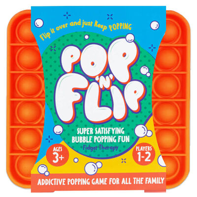 Pop 'N' Flip Bubble Popping Fidget Game: Assorted Plain Square image number 3