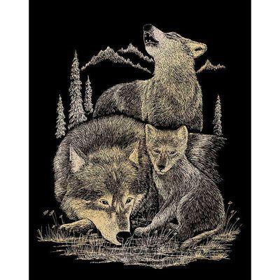 A4 Engraving Art Set: Wolves image number 2