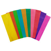 Assorted Coloured Tissue Paper: 10 Sheets