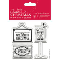 Christmas Signs Clear Stamps