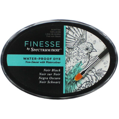 Finesse by Spectrum Noir Water Proof Dye Inkpad - Noir Black image number 1