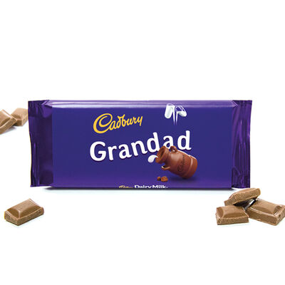 Cadbury Dairy Milk Chocolate Bar 110g - Grandad image number 2