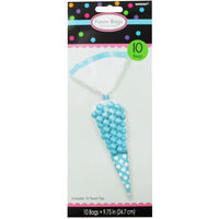 10 Blue Polka Dot Cone Favour Bags