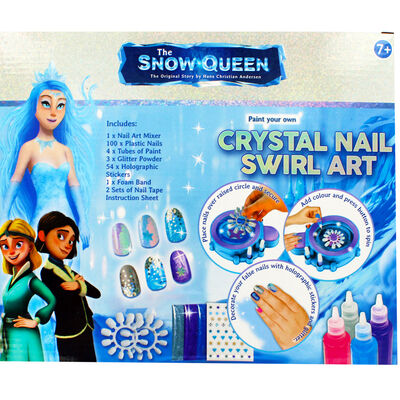 The Snow Queen Crystal Nail Swirl Art image number 4