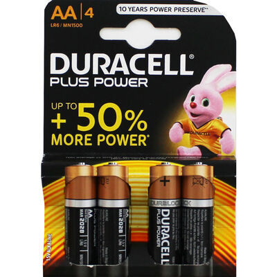 Duracell Plus Power AA Batteries - 4 Pack image number 1