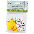 Self Adhesive Bunny and Chick Embellishments - 20 Pack image number 1