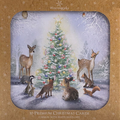 Woodland Christmas Cards: Pack Of 10 image number 1