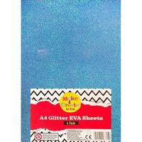 A4 Glitter EVA Sheets - 6 Pack