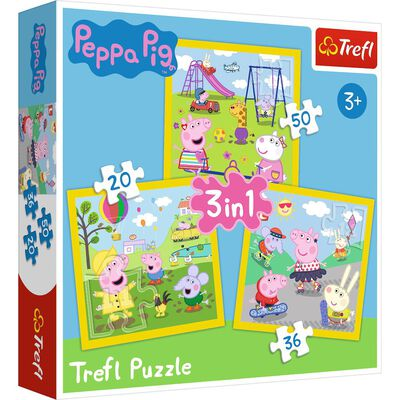 Peppa Pig 3-in-1 Jigsaw Puzzle Set image number 1