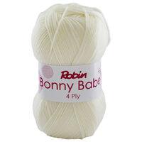 Robin Bonny Babe: Cream 4ply Yarn 100g