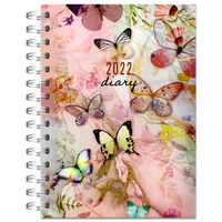 A6 Butterflies 2022 Week to View Diary