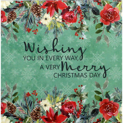 Once Upon a Christmas Scene and Sentiment Toppers Pad - 5x5 Inch image number 2