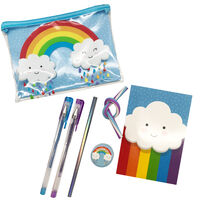 Blue Rainbow Bumper Stationery Set