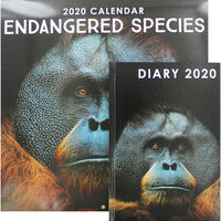 Endangered Species 2020 Calendar and Diary Set