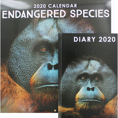 Endangered Species 2020 Calendar and Diary Set image number 1