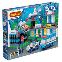 Bauer Blocks Police Department Playset