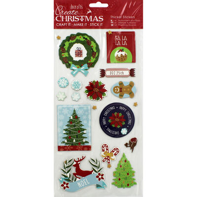 Christmas Icons Thick Christmas Stickers image number 1