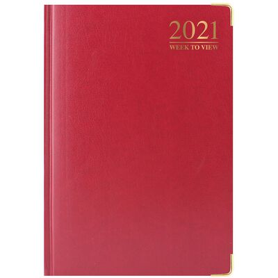 A5 Padded Week To View 2021 Diary Assorted image number 1