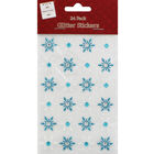Glitter Snowflake Stickers: Pack of 24 image number 1