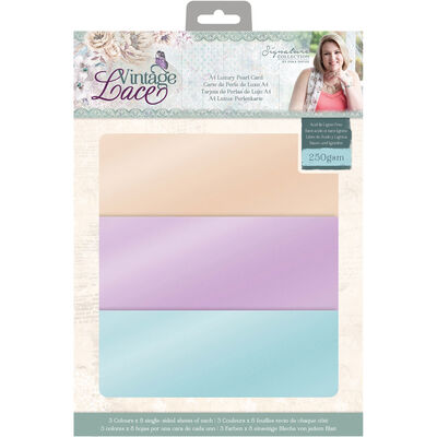 CC Vintage Lace A4 Luxury Pearl Card - 24 Sheets image number 1
