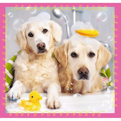 Cute Dogs 3-in-1 Jigsaw Puzzle image number 3
