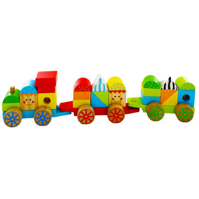 Wooden Stacking Train image number 3