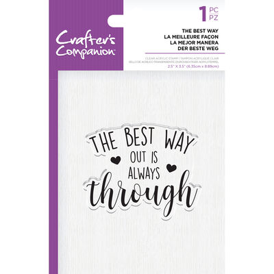 Crafters Companion Clear Acrylic Stamp - The Best Way image number 1