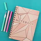 A5 Wiro Rose Gold Foil Lined Notebook image number 4