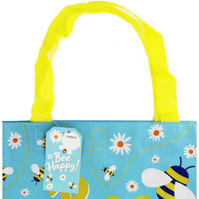 Bee Happy Giant Reusable Shopping Bag image number 2