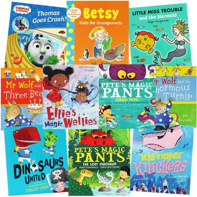 Mr Wolf and Pete's Magic Pants: 10 Kids Picture Books Bundle image number 1